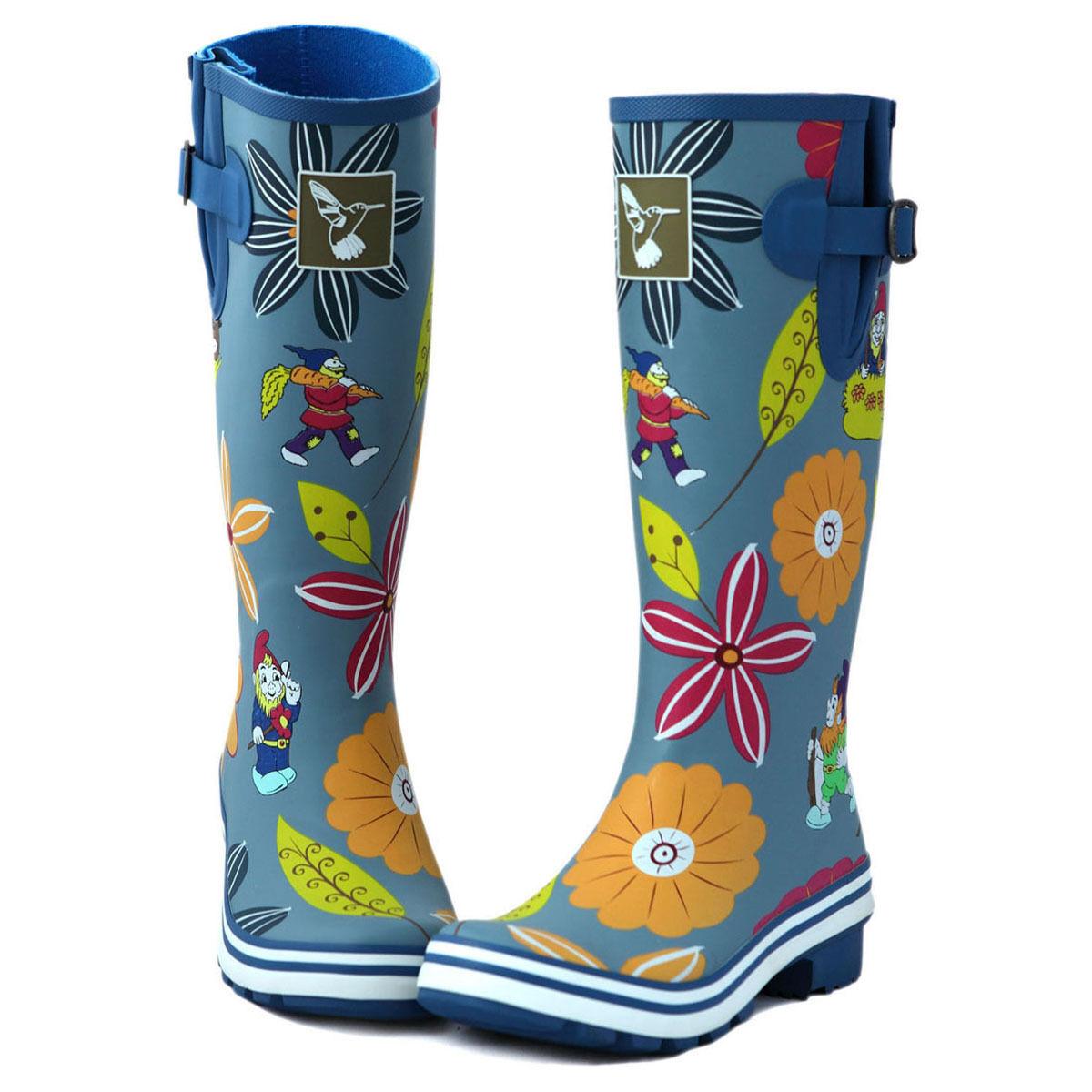 Cute Floral Prints Rain boot Great Quality Knee-high Rain boots Wellies UK Brand