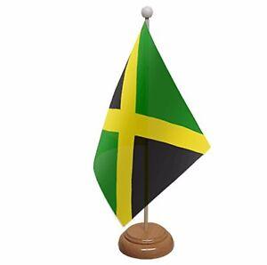 """JAMAICA TABLE FLAG 9/"""" X 6/"""" 22.5cm x 15cm flags JAMAICAN CARIBBEAN"""