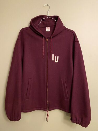 Vintage 50s / 60s Champion Hooded Hoodie Indiana U