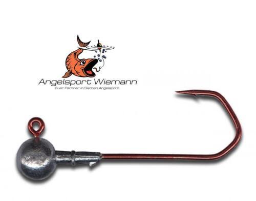 5 x VMC Barbarian Jig 5150 Rundkopf 3//0 Jigkopf für Lieblingsköder von Pilkmaxx