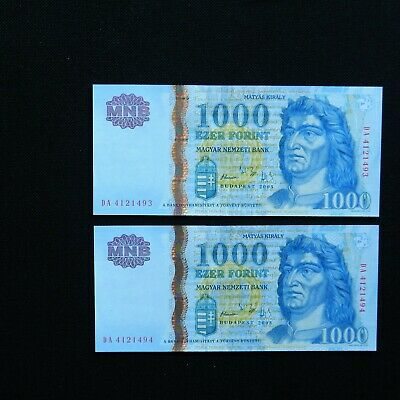 UNC 2005 Hungary 1000 Forint Banknote Europe Paper Money P-195