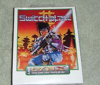 Switchblade 2 Switch Blade II Atari Lynx. BRAND NEW!! SEALED!!
