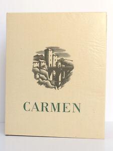 Carmen-Prosper-MERIMEE-Gravures-Jean-TRAYNIER-Le-Vasseur-1943-Ex-numerote