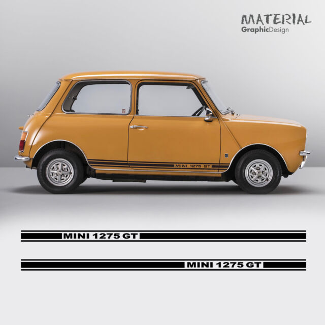 Classic Mini Cooper 1275 Gt Clubman Side Stripes Decals Graphic For