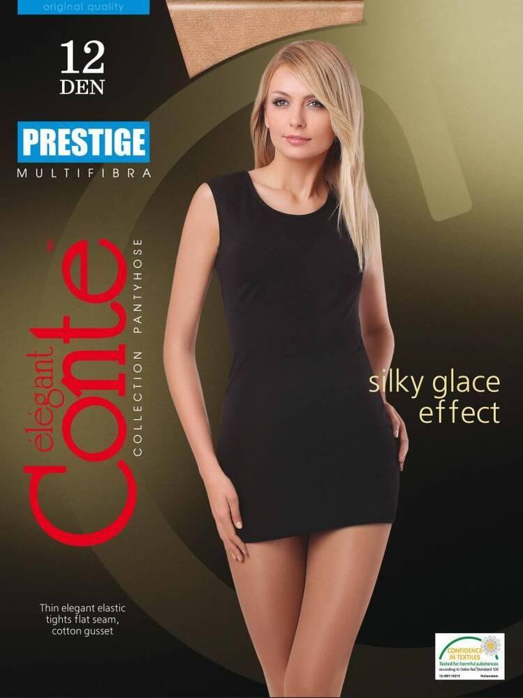 "3-paar "" Prestige 12 Den "" Collants Por Dame Soyeux Glace Effet"