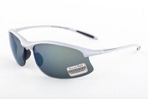 dd5e88faeb1 Image is loading Serengeti-Maestrale-Metallic-Silver -555-Polarized-Blue-Mirror-