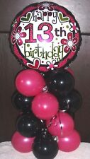 Item 4 18 FOIL BALLOON AGE 13 13th BIRTHDAY TABLE DECORATION DISPLAY AIRFILL TEENAGER