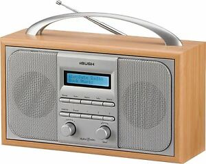 bush arden wooden dab fm stereo radio alarm clock ebay. Black Bedroom Furniture Sets. Home Design Ideas