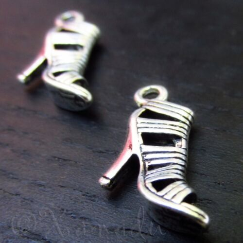 20 Or 50PCs High Heel Shoe Wholesale Antiqued Silver Plated Charms C1116-10