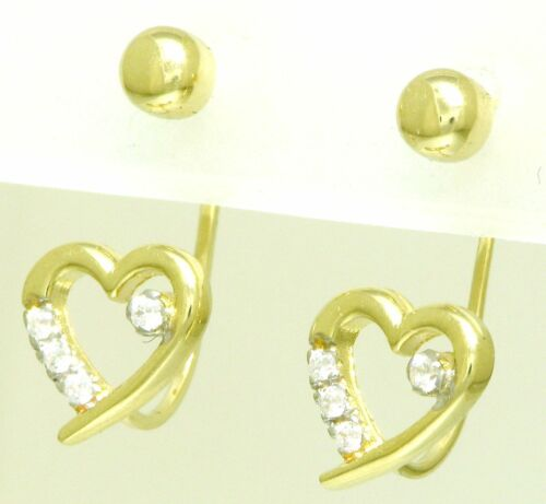 nuevo Extravagantes señora pendientes aretes con circonita 585 oro dorado 14 kt