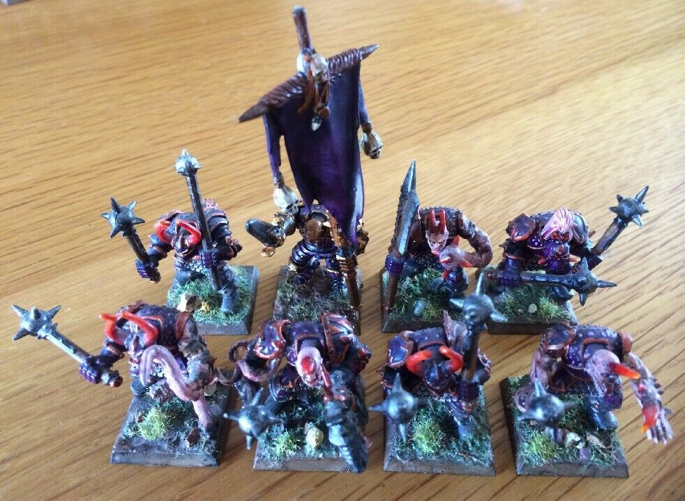 Warhammer Miniatures Chaos Warriors Of Slaanesh PRO Paint Lot Of 8 RARE