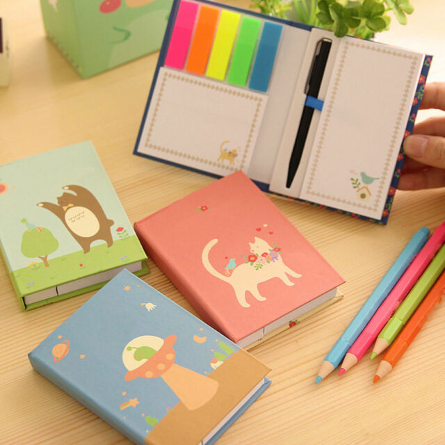 1pc New Color Random Cute Mini Tiny Notebook Note Pen Memo Diary Pocket Planner