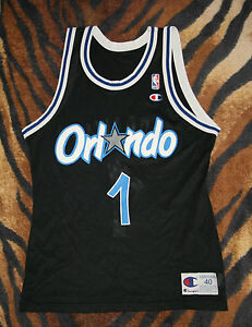 separation shoes 08943 a34f9 Details about Vtg 90s Champion Orlando Magic Penny Hardaway 1 Jersey sz 40