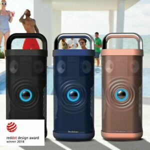 Details about Brookstone Big Blue Party Indoor-Outdoor Bluetooth Speaker,  with charging cable