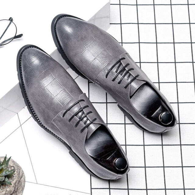 Men/'s Brown Dress Formal Shoes Suit Oxfords Prom Leather Brogue Wing Tip Casual