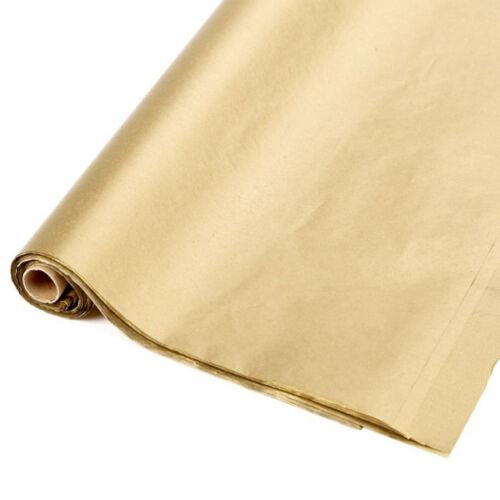 Rolle beste Qualität Metallisch Gold Seidenpapier 48 Blätter 50.8x76.2cm