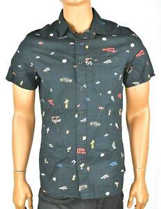 Tommy-Hilfiger-Denim-Mens-Black-Shirt-New-S-L-XL-Custom-Fit-Short-Sleeves-Casual
