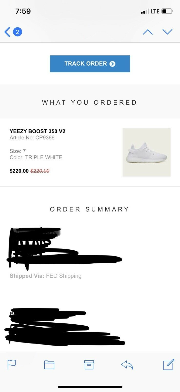 Adidas Yeezy Boost 350 V2 Triple White 7