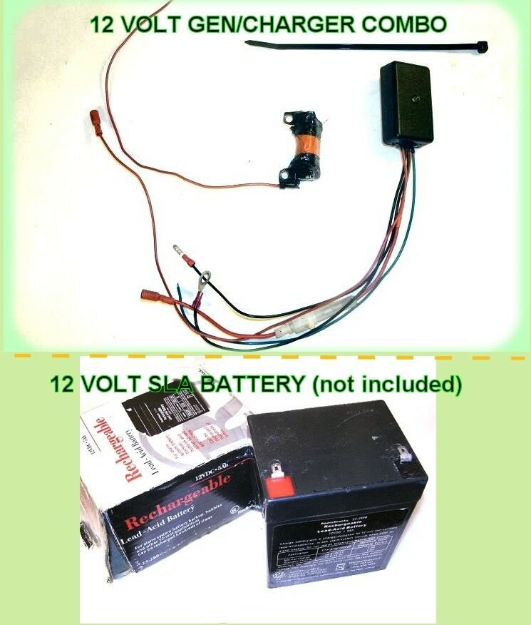 SPECIAL DEAL ON 12 Volt Mini-Generator Charger Combo For Motorized Bicycles Bike