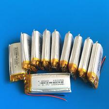 10 pcs 1000mAh LiPo 3.7V Battery 102050 for MP4 MP5 GPS Selfie Stick Speaker PSP