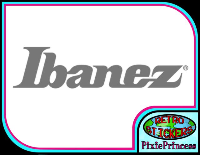 Ibanez Guitar Bass Logo A Vinyl Sticker Car Console PS4 XBOX Wall Window Decal
