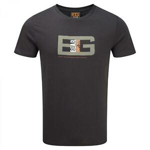 ObéIssant Grand-craghoppers Homme Bear Grylls Coton Outdoor Casual T-shirt En Noir-afficher Le Titre D'origine