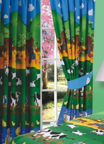 ANIMAL FARMYARD FRIENDS CHILDRENS DUVET SET IN COT BED SINGLE DOUBLE OR CURTAINS