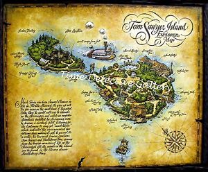 Map of tom sawyer island disney world poster available in 5 image is loading map of tom sawyer island disney world poster gumiabroncs Image collections