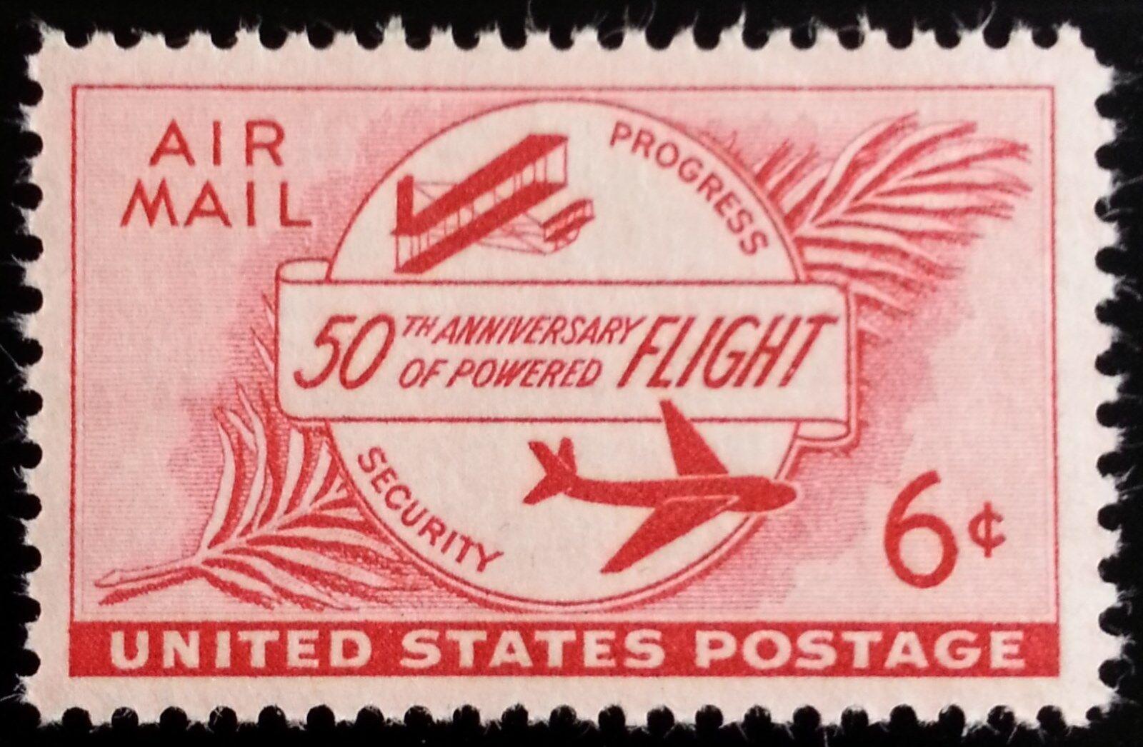 1953 6c Powered Flight, 50th Anniversary Scott C47 Mint