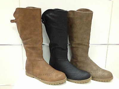 Botte Bottines Femmes Chaussures Neuf Noir Taupe Camel Sb609 Ultima Tecnologia