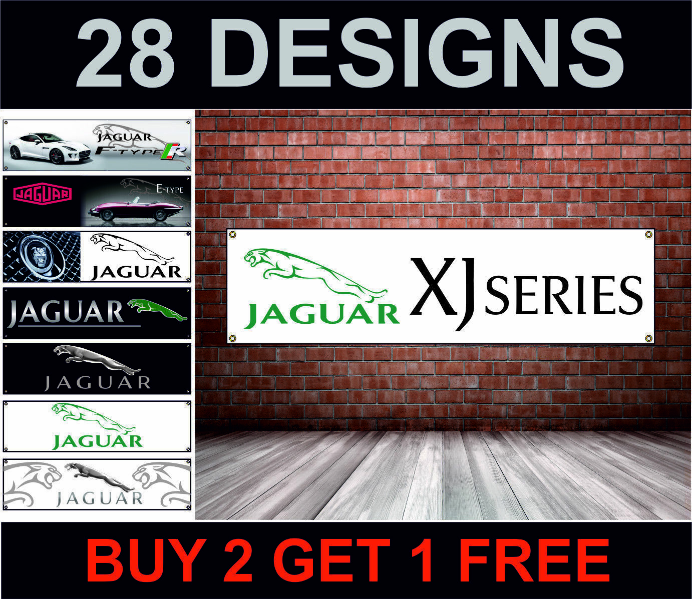 Jaguar xfr jaguar xf banner poster workshop garage showroom office mechanics