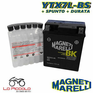 Batteria Magneti Marelli Ytx7l-bs Sigillata Honda Cb F Hornet S 600 2003 2004 Des Performances InéGales