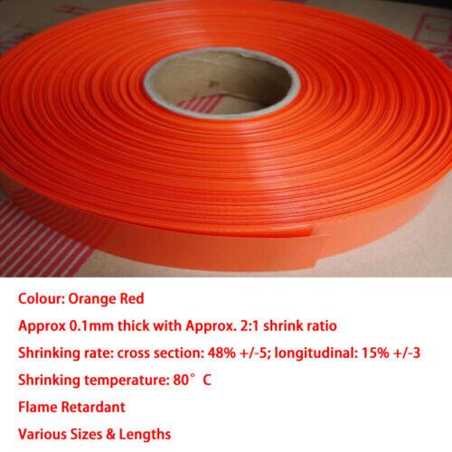 Orange Rot PVC Schrumpfschlauch RC Batterie Pack LiPO NiMH NiCd Größe/&Länge