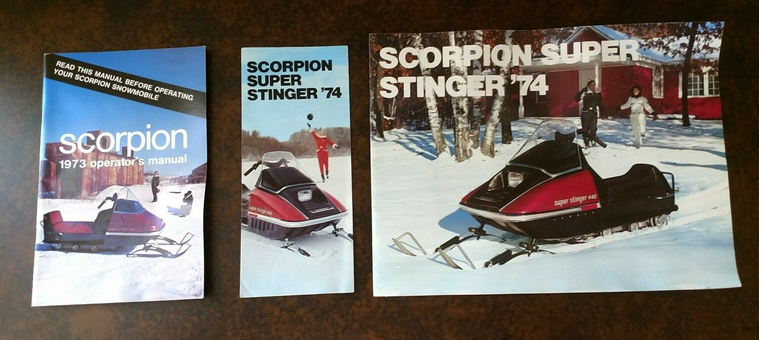 Vintage Scorpion Snowmobile Brochure  and Operator Manual  buy discounts