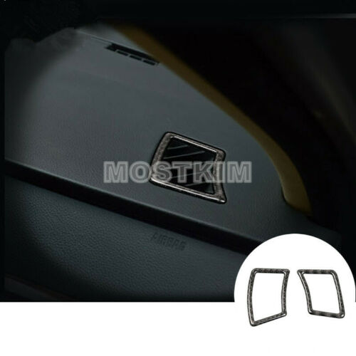 Carbon Fiber Dashboard Side Air Outlet Cover For BMW 5 Series E60 2005-2010