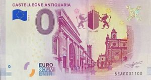 BILLET-0-EURO-CASTELLEONE-ANTIQUARIA-ITALIE-2018-NUMERO-1100
