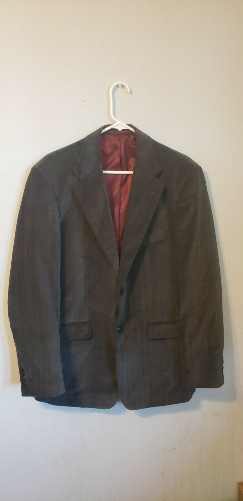Michael Brandon blazer grey patterned velvet, ou… - image 1