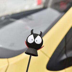 1x-Red-Shirt-Devil-Antenna-Topper-Eva-Decorative-Car-Topper-Balls-Black-NA