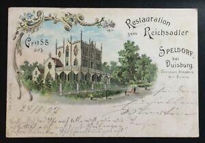 AK-Litho-Gruss-aus-Restauration-zum-Reichsadler-Speldorf-bei-Duisburg-1897