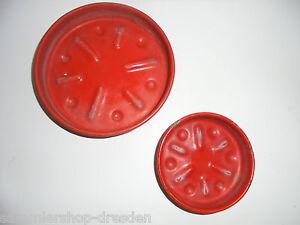 Sonstige 27295 Emaille Blumenuntersetzer Vewag Rot Flower Coaster 8+11cm Red Rar Enamel