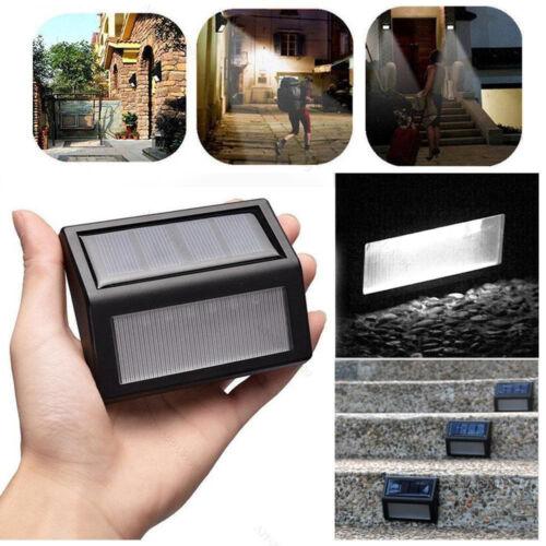 Solar Power LED  Path Motion Sensor Wall Waterproof Light Outdoor Garden Lamp R