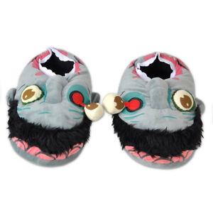 Zombie-Pluesch-Hausschuhe-Pantoffeln-Schlappen-Haus-Schuhe-Groesse-27-5cm-Slippers