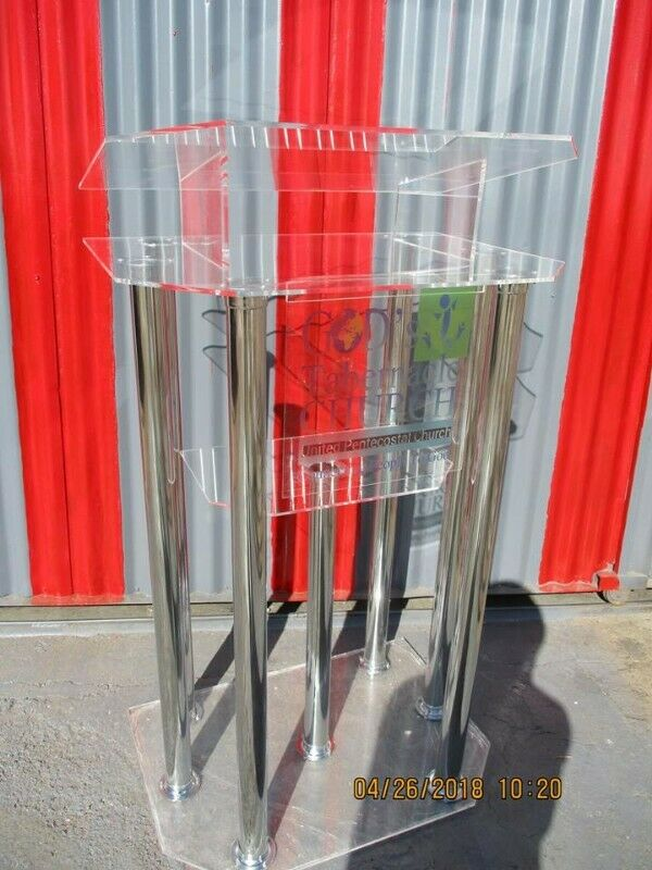 Silver tube legs pulpit,podium,lectern for church