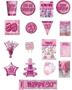 80-80th-Birthday-Pink-Glitz-Party-Range-Party-Plates-Napkins-Banners-Cups