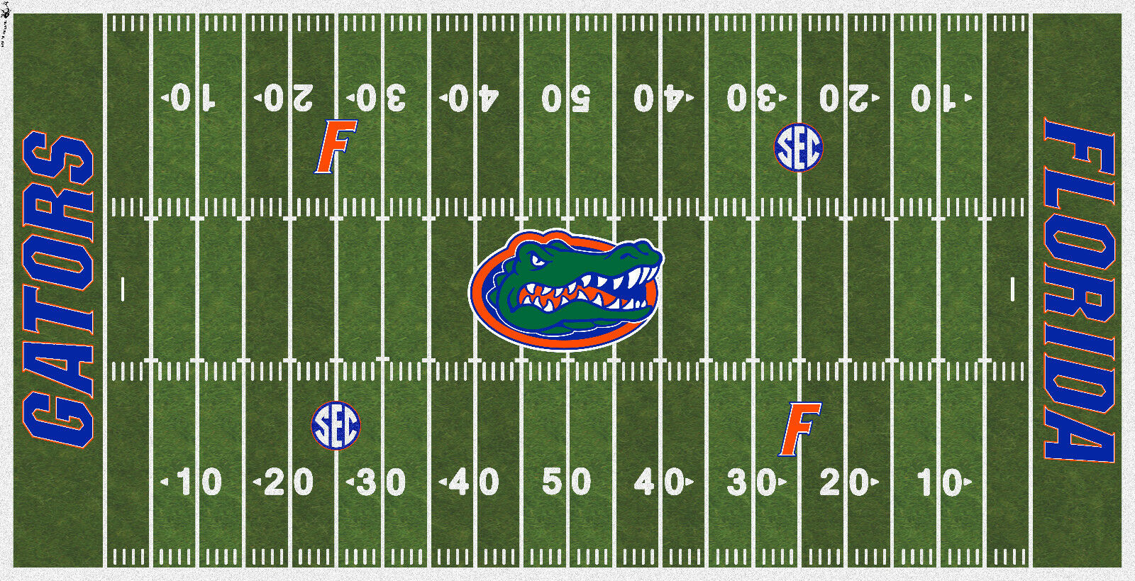 Florida Gators Electric fotboll Vinyl Field Cover
