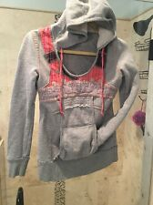 """FREE PEOPLE $148 """"Hooded Pullover Tah Loo Hoodie Bohemian Sweater Top Aztec  XS"""