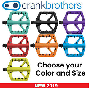 NEW BLUE Large Crank Brothers Stamp 1 Mountain Bike Pedals