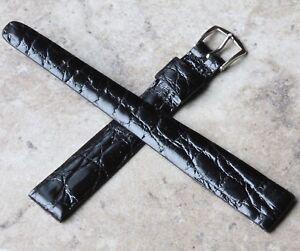 Long-Length-tapered-16mm-Genuine-Alligator-vintage-watch-strap-1950s-60s-NOS
