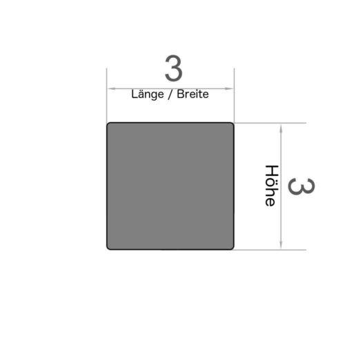 50er Set Würfelmagnet 3x3x3 mm Neodym vernickelt Supermagnet N45