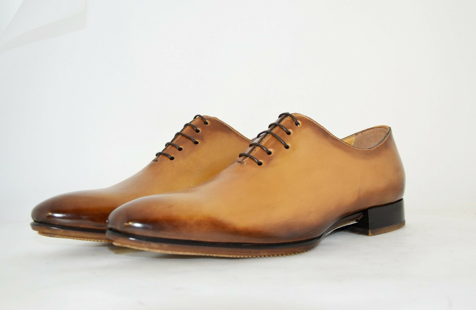 MAN-8eu-9us-PLANE SOLE-SOLA OXFORD-TAN CALF-VITELLO COL. CUOIO-RUBBER SOLE-SOLA MAN-8eu-9us-PLANE GOMMA 6cd51c